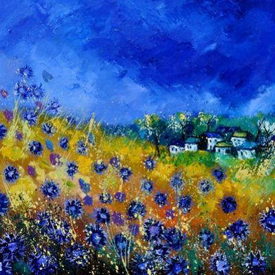 Blue Cornflowers 7741 by Pol Ledent
