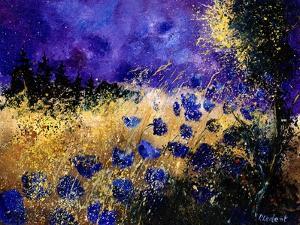 Blue wild flowers by Pol Ledent