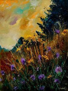 Cornflowers Yellow Purple by Pol Ledent