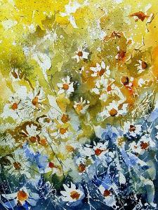 Daisies Watercolor by Pol Ledent