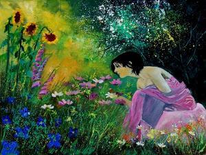 Eglantine In The Garden by Pol Ledent