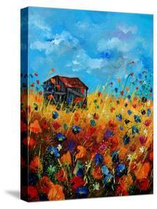 Field Flowers And Old Barn - Poppies by Pol Ledent