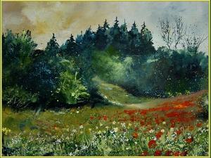 Field with Red Poppies and Daisies by Pol Ledent
