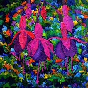 Fuschia Flowers by Pol Ledent