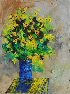 Green and Yellow Still Life by Pol Ledent