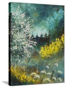 Hawthorne and brooms by Pol Ledent