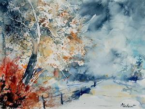 in the wood watercolor by Pol Ledent