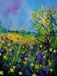 Landscape With Cornflowers 459060 by Pol Ledent