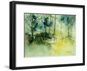 Light on a Pond in a Wood by Pol Ledent