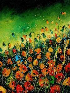 Orange Poppies 45 by Pol Ledent