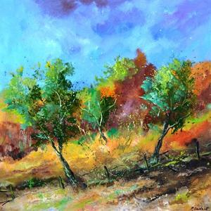 Orchard in autumn by Pol Ledent