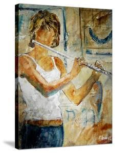 Playing the Flute by Pol Ledent