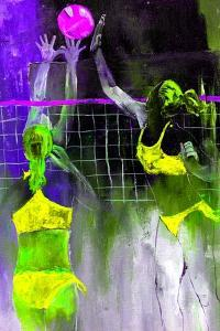 Playing Volley by Pol Ledent