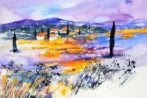 Provence 5170 Watercolor by Pol Ledent