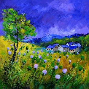 Purple flowers by Pol Ledent