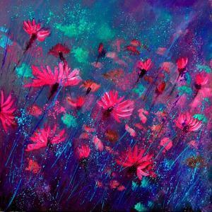 Purple Wild Flowers by Pol Ledent