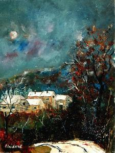 Snow in a little village in Belgium (Ardennes) by Pol Ledent