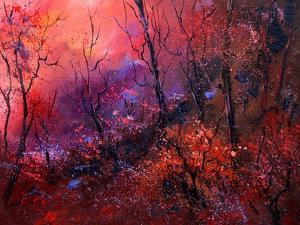 Sunset In The Wood by Pol Ledent