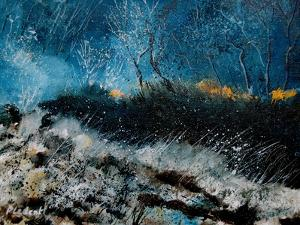 The Sun Is Rising Behind The Trees by Pol Ledent