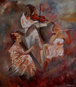 Three Musicians by Pol Ledent