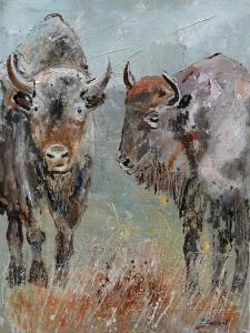 Two Buffaloes by Pol Ledent