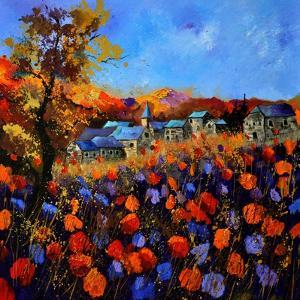 Village In Autumn 7741 by Pol Ledent