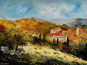 Village In Provence by Pol Ledent