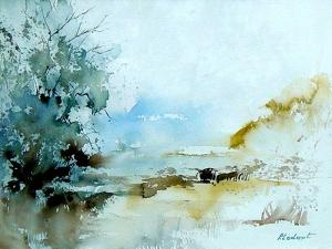 Watercolor 240405 by Pol Ledent
