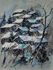 Watercolor 4121132 Snow Landscape by Pol Ledent