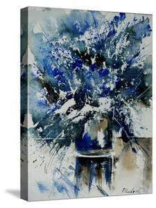 Watercolor Blue Bunch by Pol Ledent