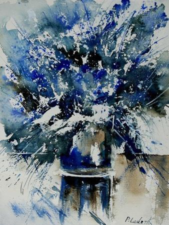 Watercolor Blue Bunch