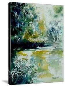 Watercolor Blue Pond by Pol Ledent