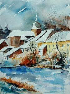 Watercolor Chassepierre by Pol Ledent