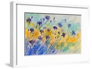 Watercolor Cornflowers by Pol Ledent