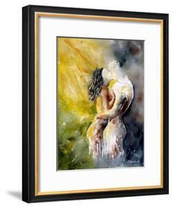 Watercolor Couple by Pol Ledent