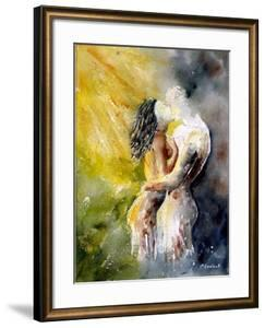 Watercolor Couple by Pol Ledent