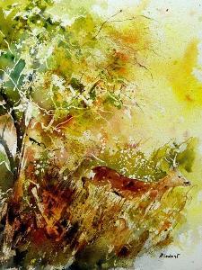 Watercolor Deer 1 by Pol Ledent
