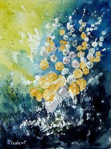 Watercolor John's Flowers by Pol Ledent