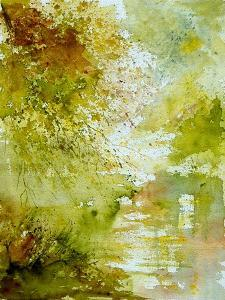 Watercolor - landscape - 211005 by Pol Ledent