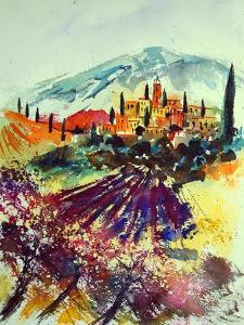 Watercolor Provence Landscape 080507 by Pol Ledent