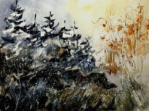 Watercolor Wild Boars by Pol Ledent