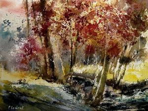 Watercolor Ywoigne by Pol Ledent