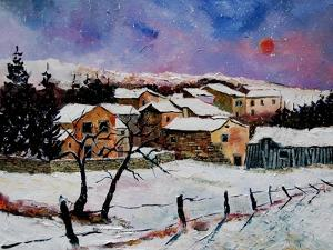 Winter landscape Ardennes Belgium by Pol Ledent