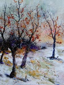 Young oaks in winter by Pol Ledent