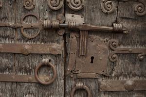 Portal of Romanesque Church of Saint-Saturnin, Boule-D'Amont, Languedoc-Roussillon, France by Pol M.R. Maeyaert