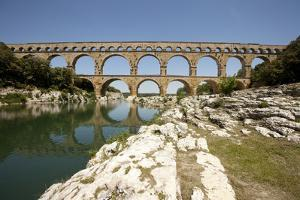Roman Aqueduct, Vers-Pont-Du-Gard, Languedoc, France by Pol M.R. Maeyaert