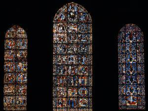 Stained Glass Window, Chartres Cathedral, France by Pol M.R. Maeyaert