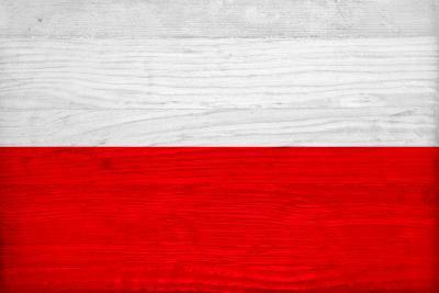 Poland Flag Design with Wood Patterning - Flags of the World Series-Philippe Hugonnard-Art Print