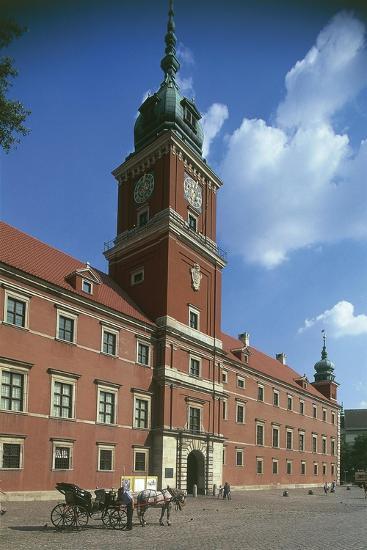 Poland, Warsaw, Historic Centre, Royal Castle, Zamek Krolewski and Square--Giclee Print