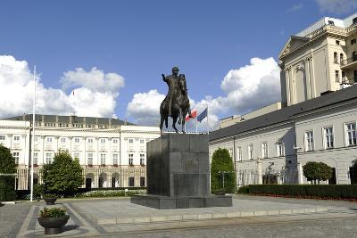 Poland. Warsaw. Presidential Palace and Statue of Prince Jozef Poniatowski (1763-1813)--Photographic Print